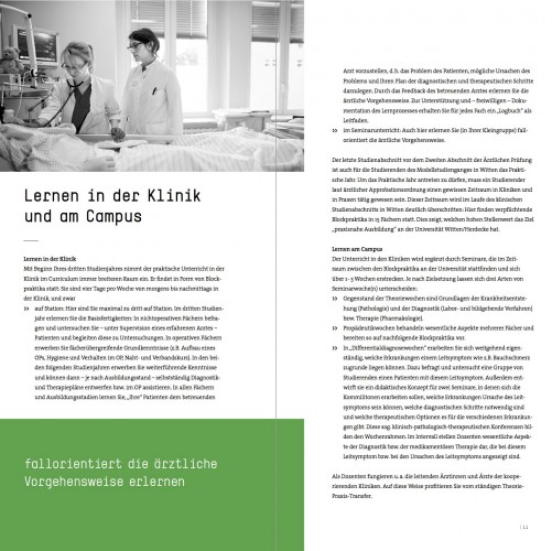 Broschüre Humanmedizin