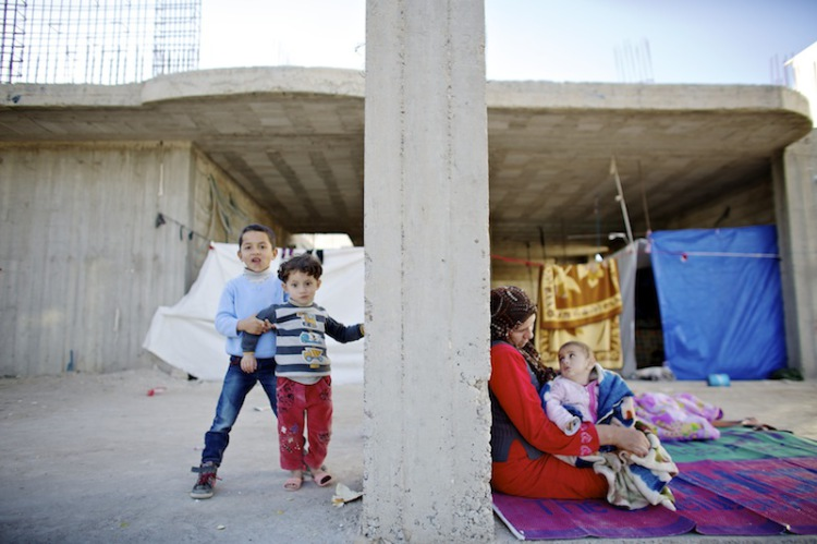 Flüchtlinge nahe der Grenze zu Kobane, Flüchtlinge nahe der Grenze zu Kobane