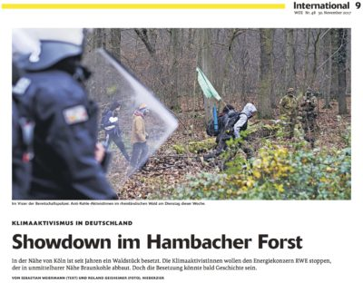 Showdown im Hambacher Forst